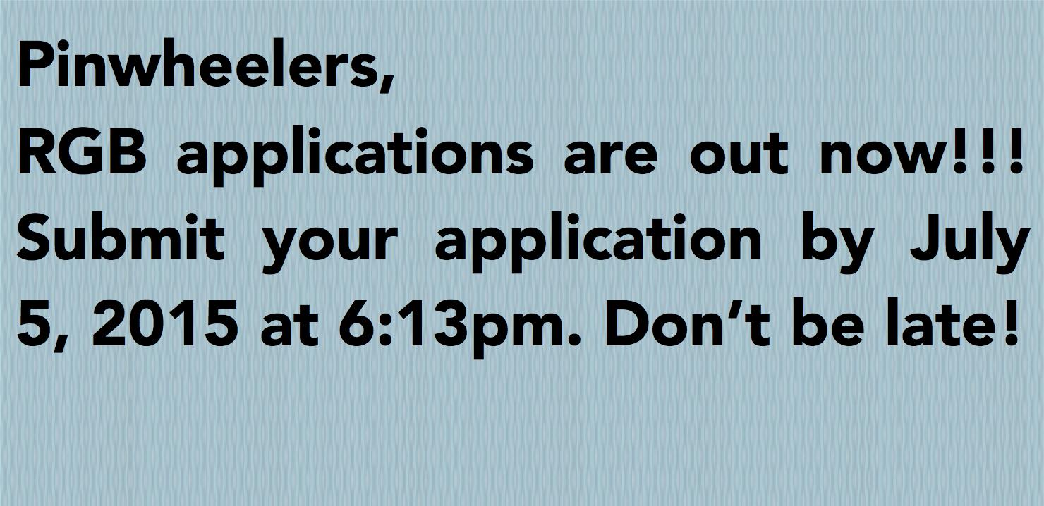 Apply for Regional General Board!